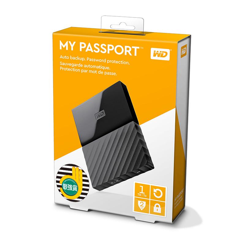 WD My Passport 1TB 2TB External Hard Drive Disk USB 3.0 Portable Encryption HDD HD Harddisk SATA for Laptop Notebook Windows Mac