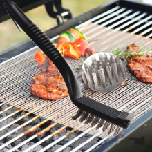 1pc Barbecue Handle Cleaning Brushes Steel Grill Brush Cooking Wire Bristles BBQ Non-stick Outdoor Home BBQ Accessories Tools