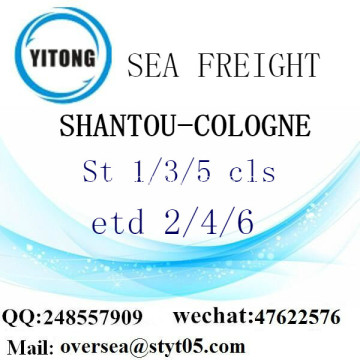 Shantou Port LCL Consolidation To Cologne