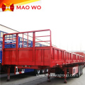 Most Popular 3 Axle Sidewall Box Semi Trailer