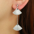 Latest Gold Hanging Shell Earrings For Girls