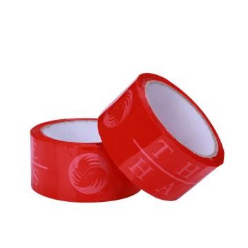 Red Strong Adhesive Printed Packing Tape