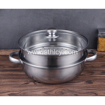Nice Design 2 Layer Stainless Steel Steamers Pot