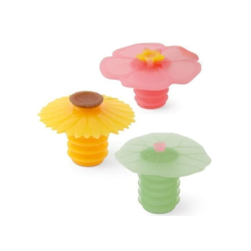 Food Grade Flower Silicone Wine Bottle Stopper