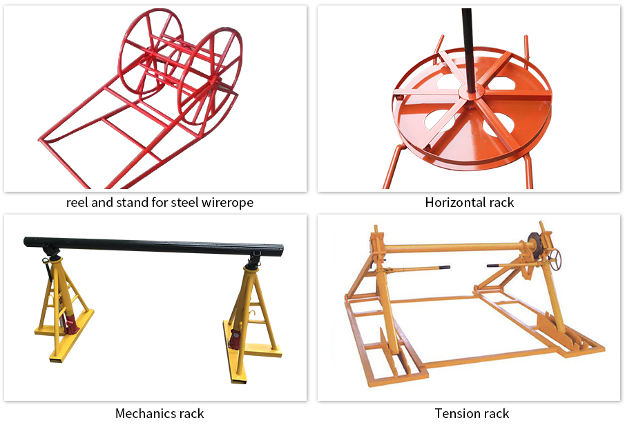 different types of cable reel stand