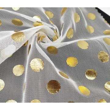 Colorful foil polka dot tulle fabric for dress