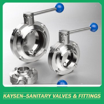 DIN Hygienic Butterfly Valves Weld end