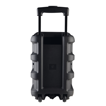 Wireless bluetooth portable wooden trolley speaker
