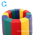 Kids Play Sponge Tumbler Rainbow Barrel Mat