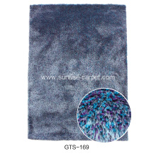Elastic&Silk Shaggy Carpet With Mix Color Rug