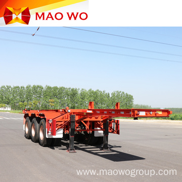 Reasonable Price Container 3 Axles Skeleton Trailer