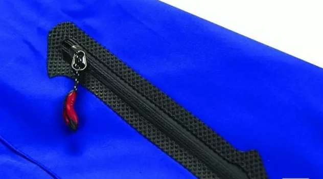 Waterproof zipper strap for outdoor jacket
