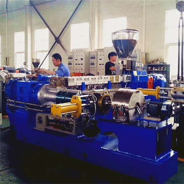 Double stage screw extruder line