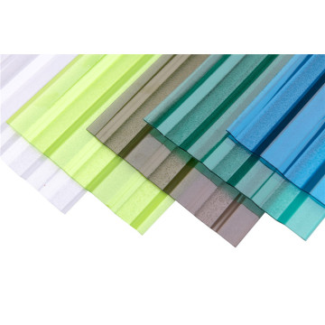 waterproof pc corrugated transparent roofing sheet