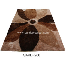 Polyester 1200D Silk Shaggy Carpet with Fantastic Pattern