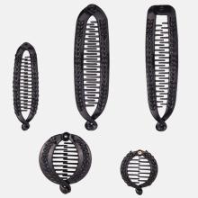 Hair Claws Clip Fish Shape Banana Barrettes Black With Stones Hairpins Hair Accessories For Women Hair Clip Clamp