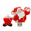 Movimentação do flash do USB do presente do Natal da capacidade real de 100%