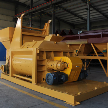 Twin shaft compulsory automatic feeding JS concrete mixer
