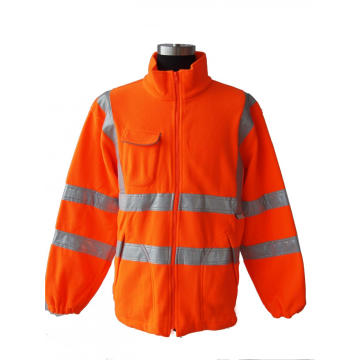 High visibility winter fleece jacket