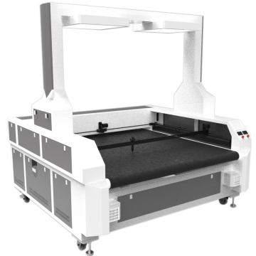 Long lifetime laser cutting machine for leather