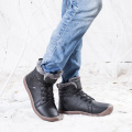 Mens Waterproof Leather Ankle Booties