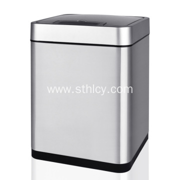 Square Stainless Steel Garbage Cans Electric Smart