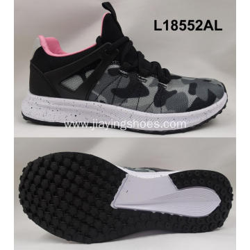 women breathable textile sports shoes