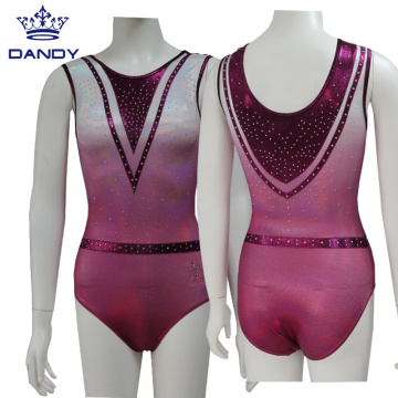 Custom ombre mystique sleeveless leotards