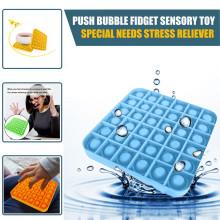 Push Bubble Fidget Sensory Toy Autism Special Needs Stress Reliever Toy Funny Children Pop-it Game Toy подарки на новый год