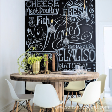 Large Dry Erase Writable Black Marker Board Wall