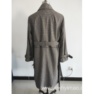 Lady tweed outerwear coat  with belt