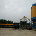 HZS35 fixed concrete batching plant in Bangladesh
