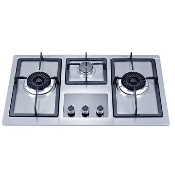 3 Burner Hobs in Stainless Steel
