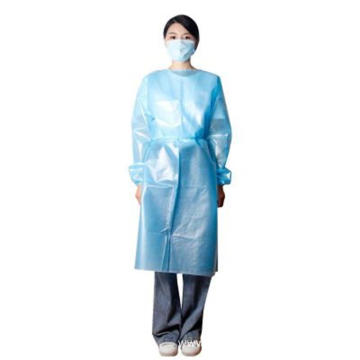 Disposable PP PE Blue Non Sterile Isolation Gown