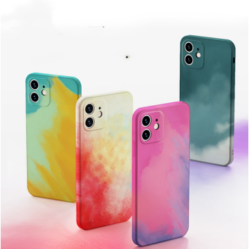 Watercolor Rainbow Slim Soft Liquid Silicone Phone Case