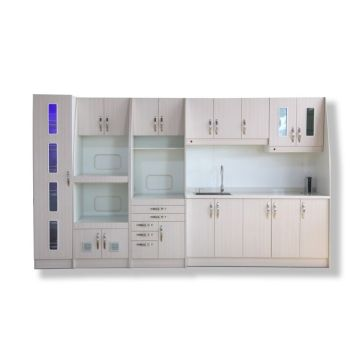 Dental sterilization cabinet with sink