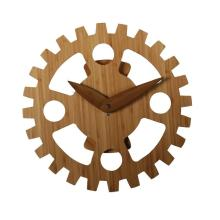 Non Number Bamboo Moving Wall Clock