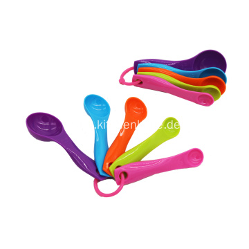 Multi-Color 5-Piece Measuring Spoon Set