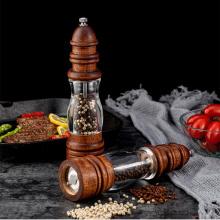 8 inch Manual Pepper Grinder Wood Sea Salt Pepper Spice Grinder Handheld Pepper Mills Home Household Restaurant Kitchen Tools