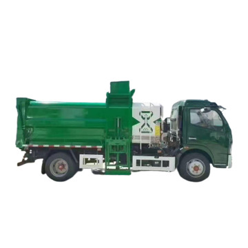 6 cubic dry and wet separation kitchen garbage waste truck