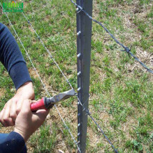 American Studded Steel Fence T Vineyard Post