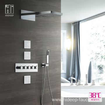 Wall Mounted Brass Thermostatic Shower Mixer