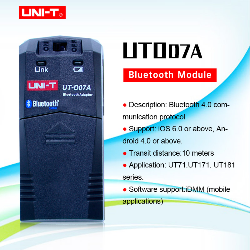 UNI-T UTD07A bluetooth module for UNI-T UT181A , UT171A and UT71E digital multimeters Bluetooth adaptor