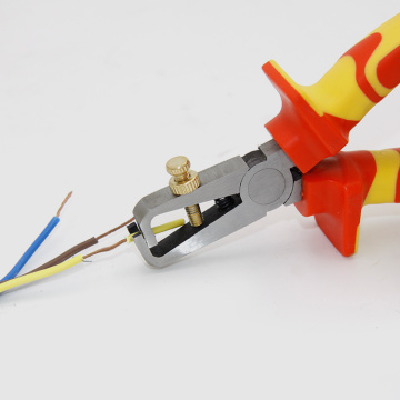 VDE wire stripper cutting pliers