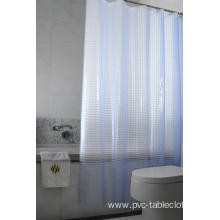 3D EVA Shower Curtain Gray Bathroom