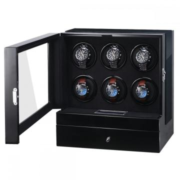 Six Rotor Watch Winder With Extra Storage