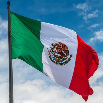 Stock 3X5ft Polyester National Country Mexico Flag
