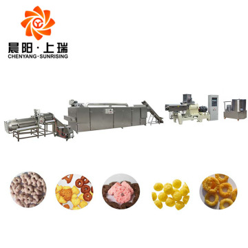 Corn puff snack extruder corn chips machine price