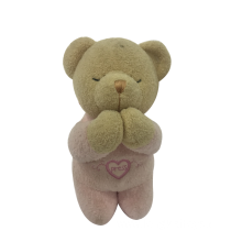 Pray Bear Toy For Baby Pink