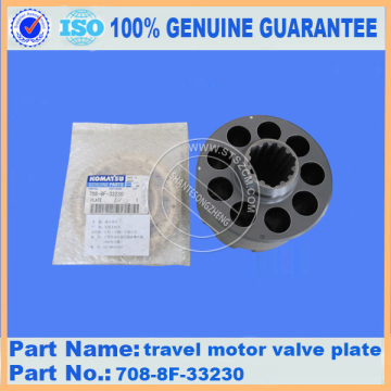 Travel motor valve plate 708-8F-33230 PC200-8 for komatsu excavator parts